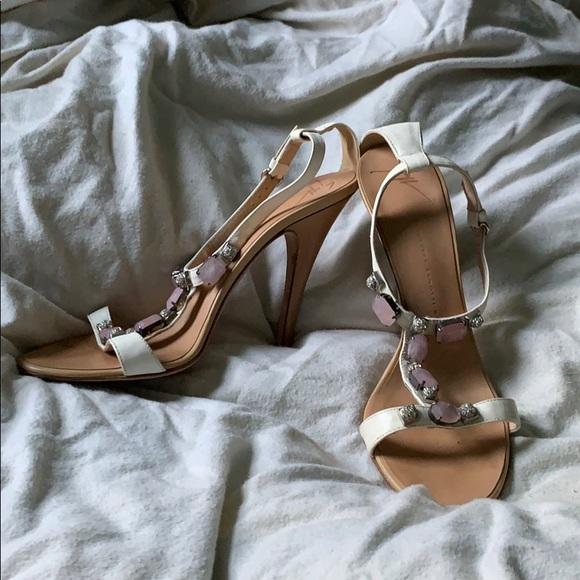 Giuseppe Zanotti Shoes - Giuseppe Zanotti Leather Heels with Jewels